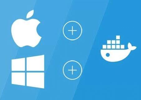 logo with apple windows and docker